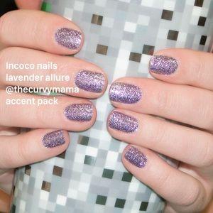2/$20 incoco nails lavender allure retired accent